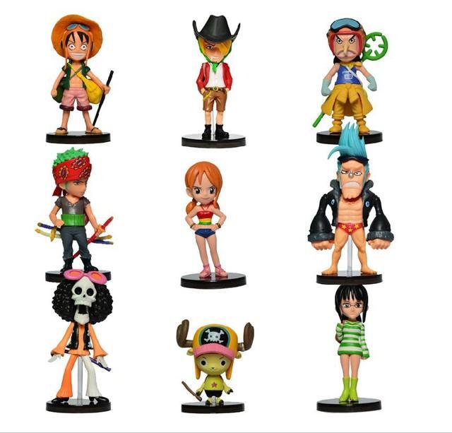 9 шт./компл. Аниме One Piece Мини Цифры 2 Лет Спустя ПВХ Фигурку Игрушки Бесплатная Доставка
