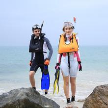 2015 Hong Kong THENICE Adult Scuba Diving Snorkeling Life Vest Mouth Breathing 100g PVC Life Jacket Drifting Ring Free Shipping(China (Mainland))