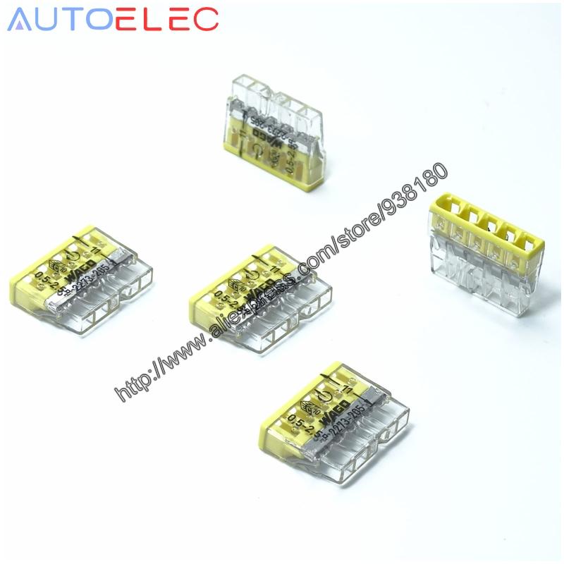 Wago 2273-205 5-Way Compact Push Wire Connecteur-Pack de 100