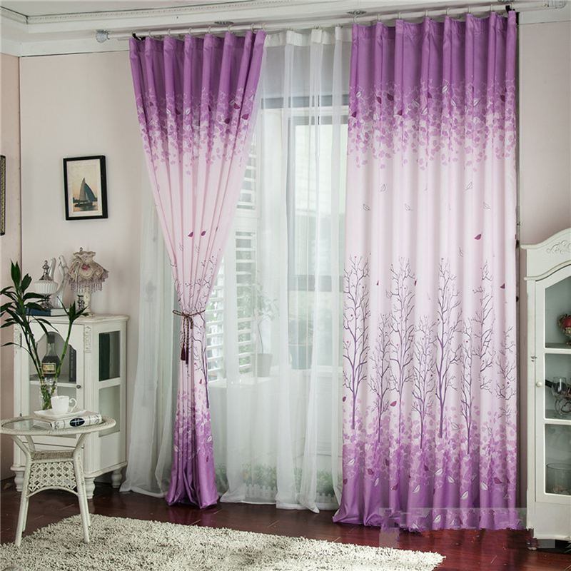 Hot 1M*2M Pachira Printed Tulle Voile Curtains Decoration Curtain Door Window Curtains for Living Room