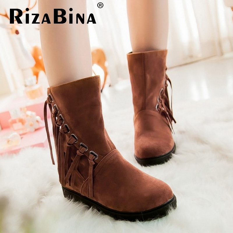 women flat half short ankle boots winter snow boot quality fashion round toe tassels footwear warm bota shoes P19803 size 34-39<br><br>Aliexpress