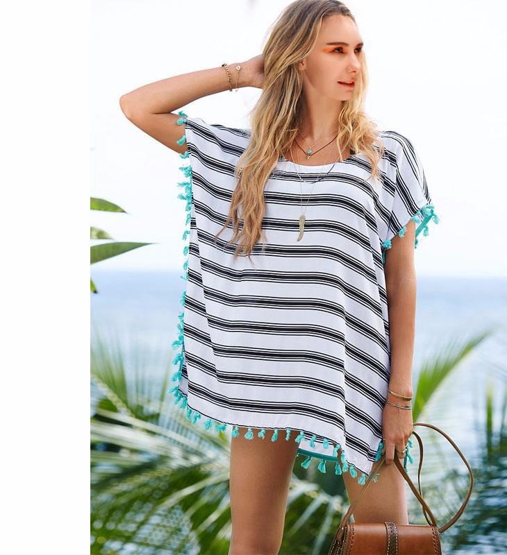 Женская туника для пляжа OEM 2015 Praia Cover -up14