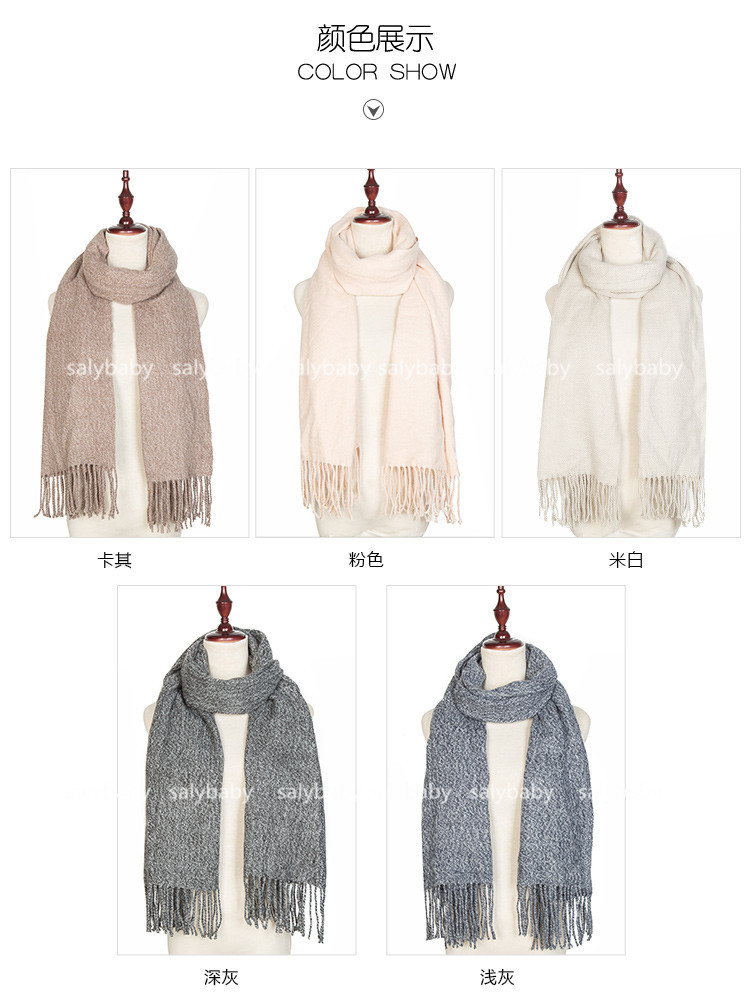 Aliexpress Pure Cashmere Scarves Female Lovers In Autumn And Winter Thick Warm Scarf Shawl Tide Brand Air Conditioner Towel