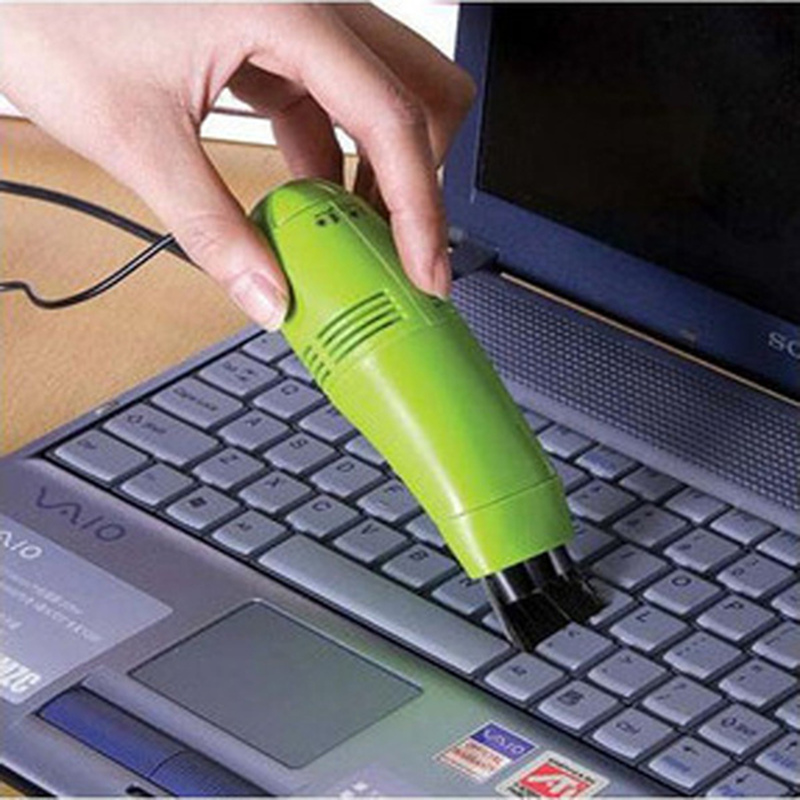 High quality new USB keyboard vacuum cleaner cleaning supplies for household dust brush green black yellow(China (Mainland))