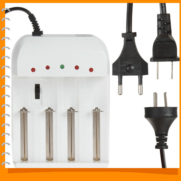 4 Port Gradually Adjustable Universal Battery Charger for 26650 18650 14500 10440 AA AAA etc Battery - US / UK / EU AC Plug(China (Mainland))