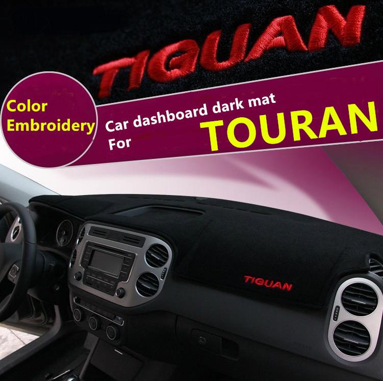 Для T O U R N5 вышивка - анти-грязный коврик приборной панели автомобиля предотвратить анти-уф анти - бесплатная доставка чистый черный темно-мат быстро воздух s