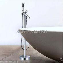 Venta al por mayor y al por menor lujo Freestand planta montada de garra bañera grifos bañera baño bañera grifo(China (Mainland))