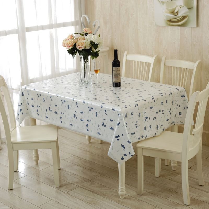 Elegant Hollw out Flower Print PVC Table Cloth Home Table Decor Waterproof Table Cover Tablecloth 130X180CM,130X130CM(China (Mainland))