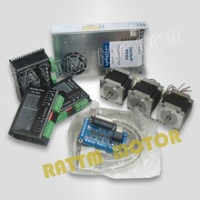 3 axis CNC controller kit NEMA23 165 oz-in stepper motor&driver 256 microstep 4.5A current Router/Engraving machine - POWACE store
