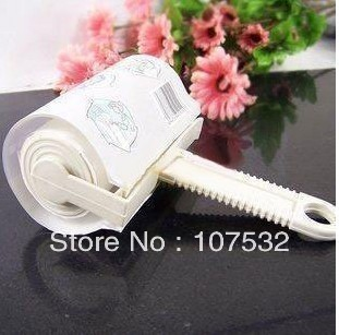 10pieces/lot Can tear type adhesive clothing dust sticky dust sticky hair roll dust rolling with 40 pages of dust removal