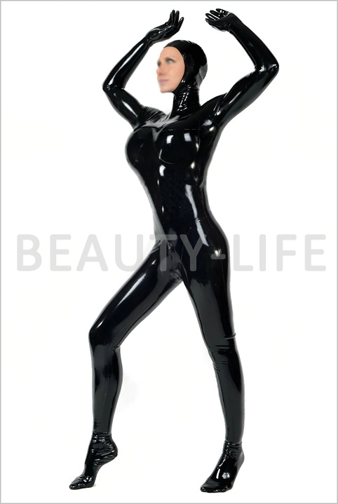 2015 New Latex Catsuit Tight Half Cover Hood DHL  -  Hunt for beauty life store