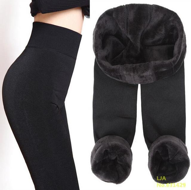 Trend Вязание Бесплатная доставка ГОРЯЧЕЙ ПРОДАЖИ 2016 зима новый Высокой упругой утолщаются женские Леггинсы теплые брюки узкие брюки для женщины