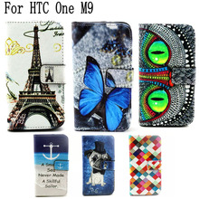 Buy Fashion Book Style Wallet Flip Case capa HTC One M9 Cover Case PU Leather Phone Cover HTC M9 Case + Stand & Card Holders for $3.58 in AliExpress store