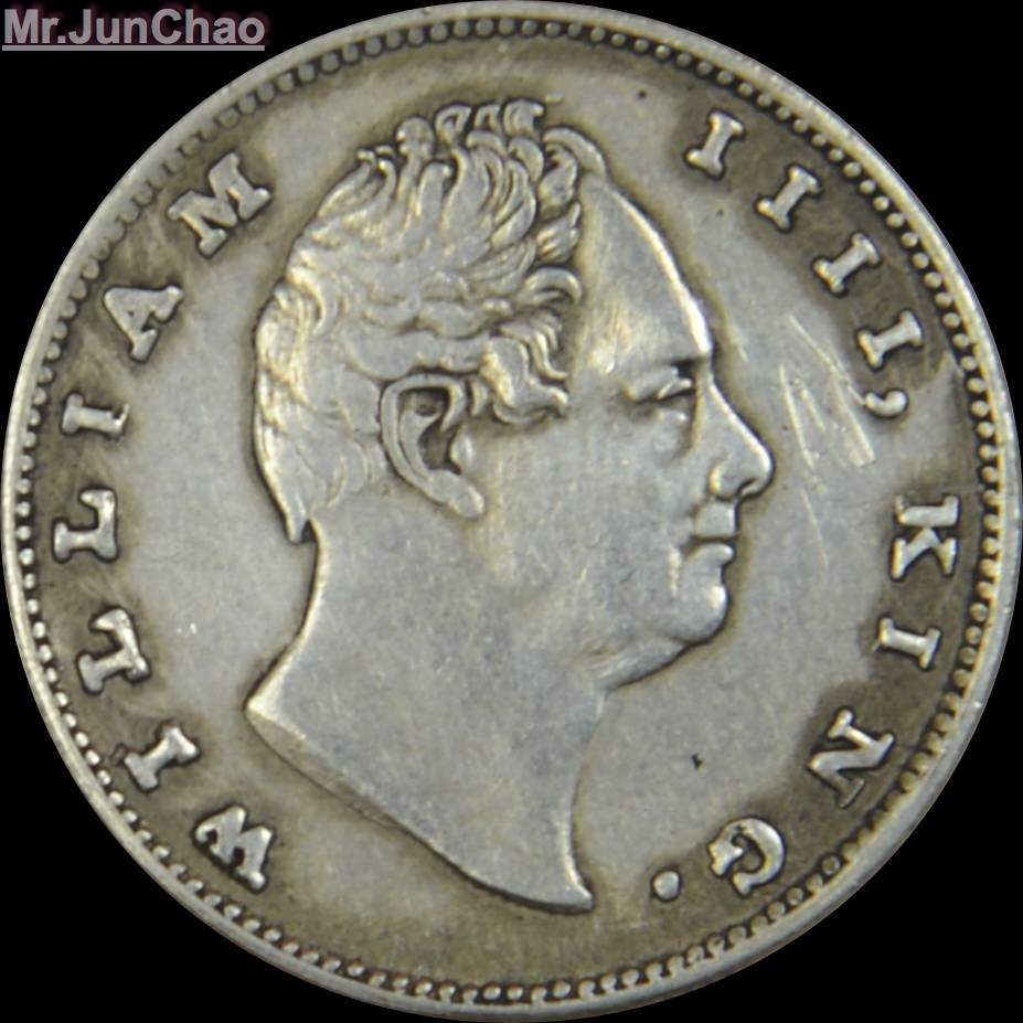 Mr.J 1835 India Coin 90% Silver British William IIII King One Rupee East India Company/Rare Coins and Good Quality.(China (Mainland))