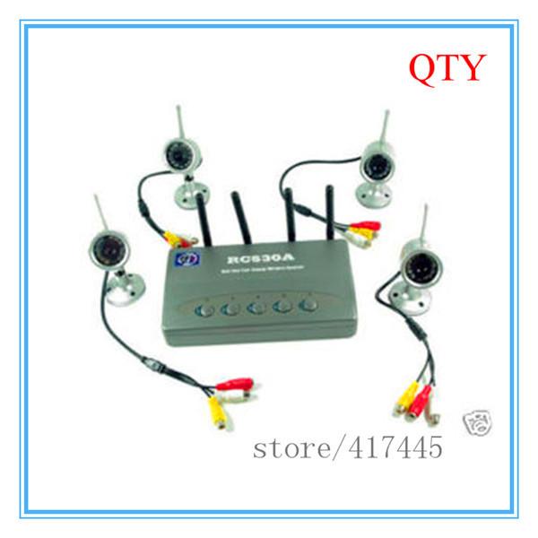 2.4G 4CH Wireless Camera night vision cam Home Security Surveillance DVR kit(China (Mainland))