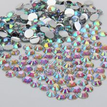 1000 pcs 3mm ss10 AB Colorful Crystal Resin Round Rhinestone Flatback Rhinestones 14 Facets DIY Nail Art Decoration Beads N22