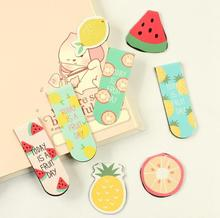 4 Set Kawaii Cute Fruit Magnetic Bookmarks Books Marker of Page Stationery School Office Supplies Student Rearding Prize(China (Mainland))