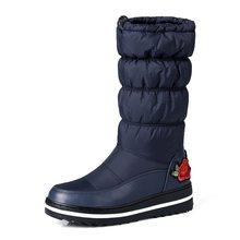 MEMUNIA Schnee stiefel für frauen schuhe plattform patent leder hohe qualität quaste schuhe baumwolle mitte kalb winter stiefel größe 35 -44(China)