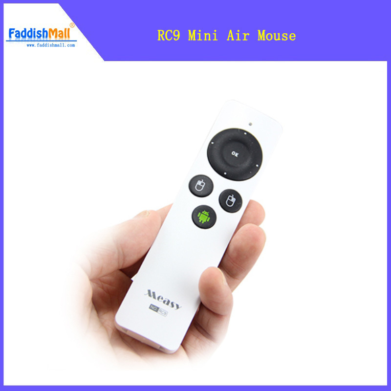 Original New Arrival Measy RC9 Mini Gyroscope 3D Air Mouse 2.4GHz Wireless Keyboard for Andriod TV Box PC Dongle Free Shipping(China (Mainland))