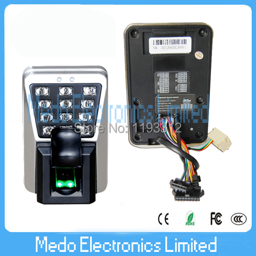 Original Keypad waterproof Biometric Fingerprint Door Access Controller with125khz rfId Card Reader MA500(Hong Kong)