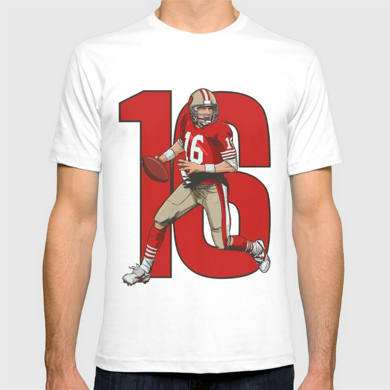 Joe montana 49ers New Fashion Men's T-shirts Short Sleeve Tshirt Cotton t shirts Man Clothing Wholesale(China (Mainland))