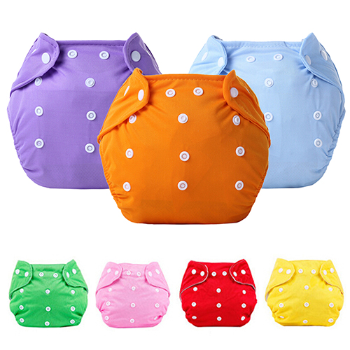 2017 Gorgeous!!! 1 Pc Reusable Baby Infant Nappy Dotted Cloth Washable Diapers Soft Covers Adjustable 76V2