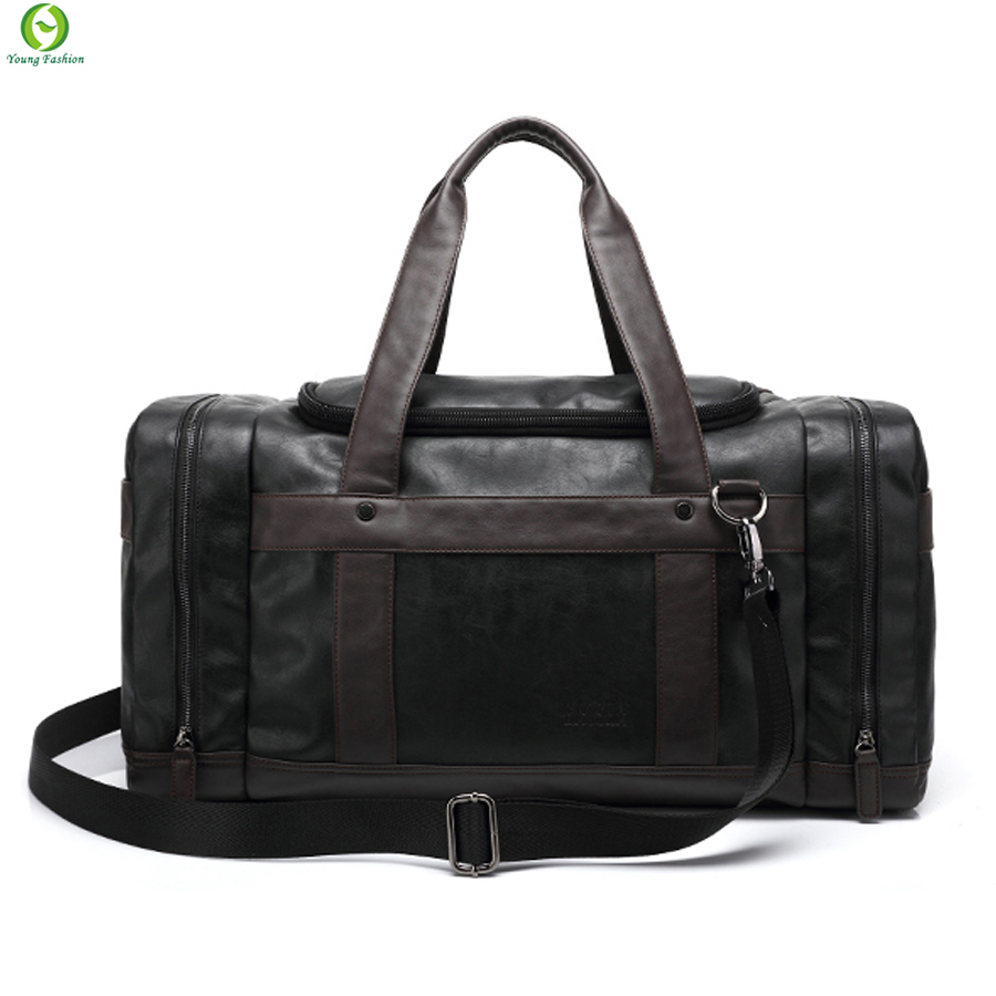 Brand Leather Travel Bags With Side Pockets For Men,New Fashion Hasp Luggage Travel Man Bag,Casual Male Business Bolsas new 2016(China (Mainland))