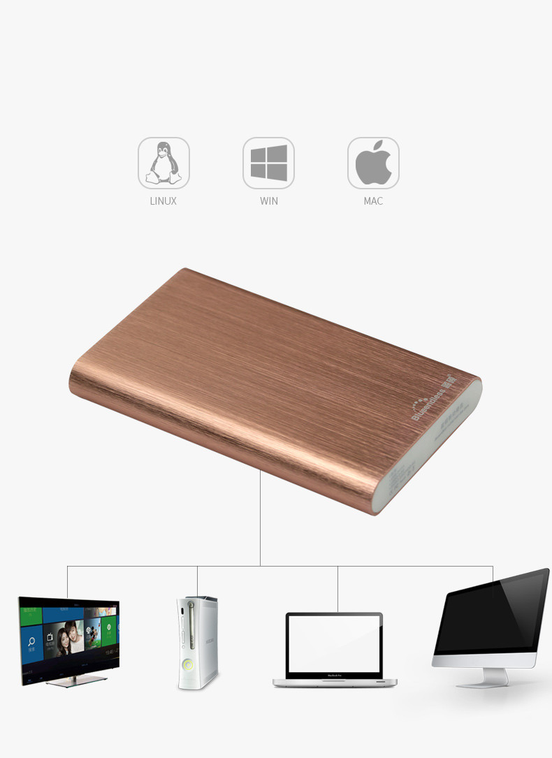 320GB/500GB/750G/1TB/2TB Aluminum sata USB 3.0 disco duro external hard drive HDD Enclosure for SSD Caddy (Hard disk included)
