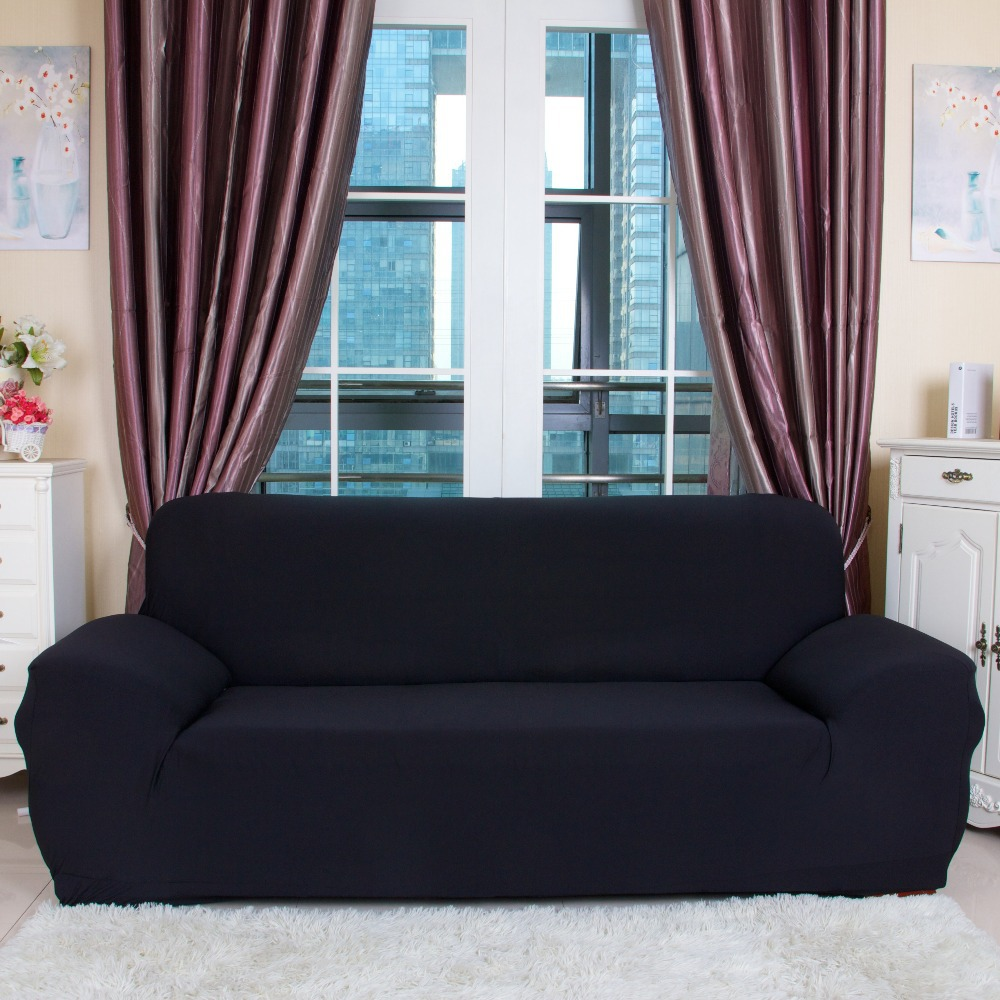 Drawing Room 3-Seat Sofa Covers Polyester Spandex Fabric Knit Eco-Friendly Anti-Mite Manta Sofa Slipcover Couch Cover 1Pcs(China (Mainland))