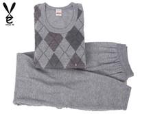 Mens Thermal Underwear Sets New Printed Warm Mens Thermal Underwear Plus Size Mens Thermal Underpants(China (Mainland))