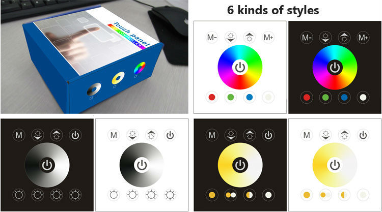 LED RGB touch panel controller;CCT(color temperature ) Touch Panel Dimmer;Single Color Touch Panel Dimmer(China (Mainland))