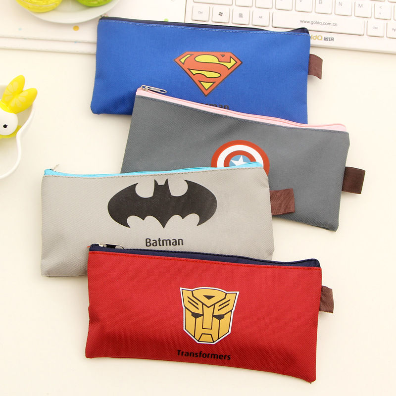 Rilakkuma Schools &amp; Offices Cases School Supplies Case Cartoon Zipper Pencils Box Superman Stationery Bag Storage Pencil K6835<br><br>Aliexpress