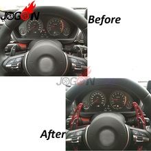 Buy Red DSG Steering Wheel Paddle Add-on Extension Shifter Cover Trim 2PCS Metal BMW X6 M 2015 2016 for $38.69 in AliExpress store
