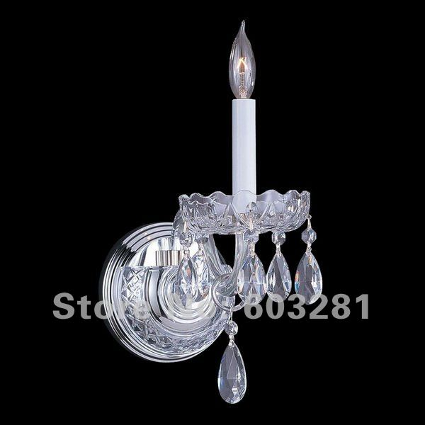 Autumn Product 1 Light Crystal Wall Sconce, 9006-1W,Chrome, + - AUTUMN LIGHTING FACTORY store