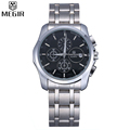 MEGIR Famous Brand Sport Watch Men Accurate Chronograph Multifunction Large Dial Stainless Steel Band Men Quartz