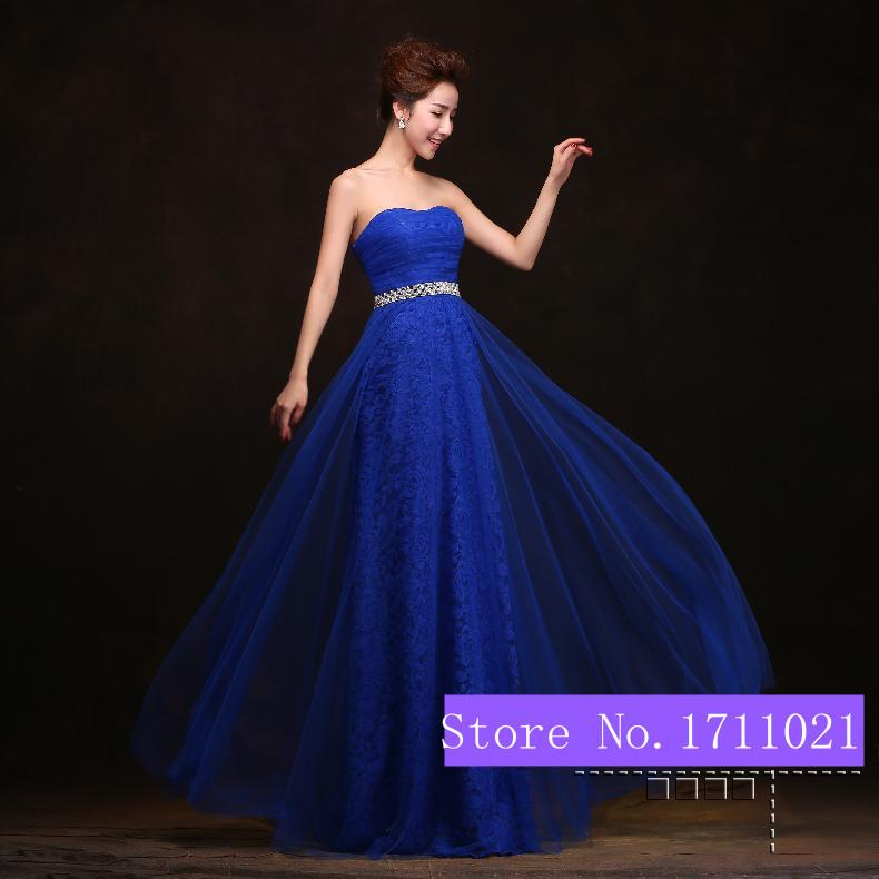Vestidos en azul zafiro