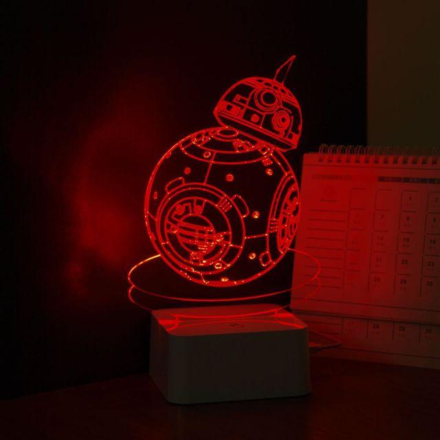 Star Wars Robot BB-8 3D Visual Night Light
