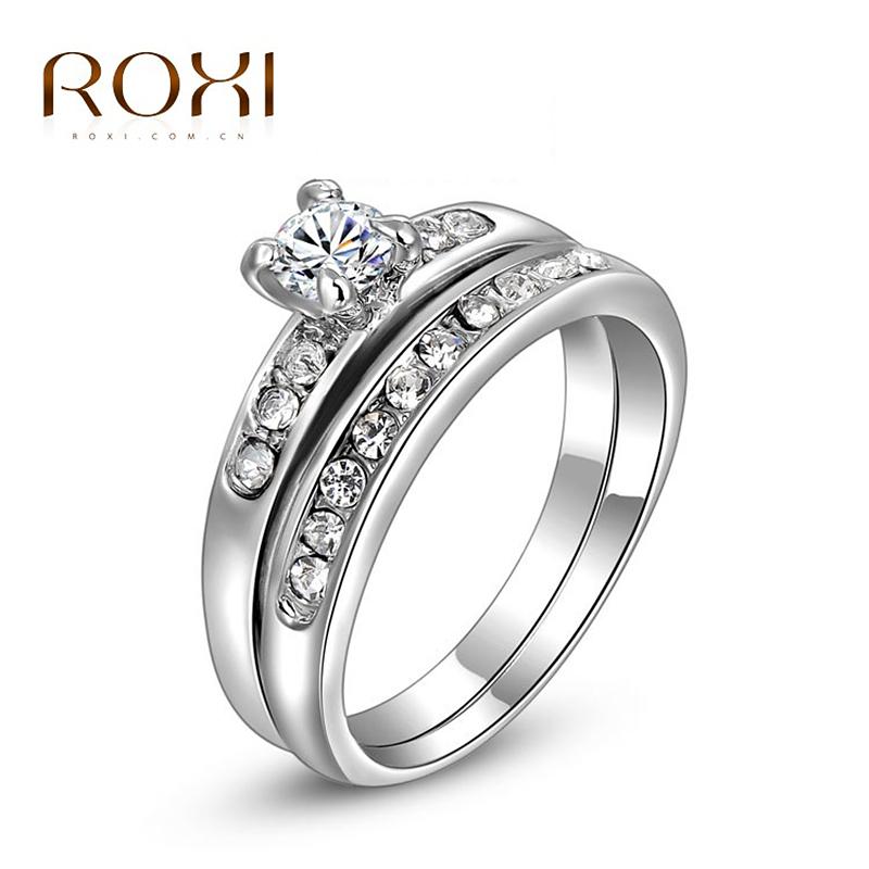 Гаджет  cheap engagement rings fashion women white Gold Plated Rings,set with Zircon Crystal,ROXI None Ювелирные изделия и часы