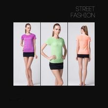 women t shirt fast dry crop top short sleeve exercise clothes for fitness sports running sports jersey seamless design