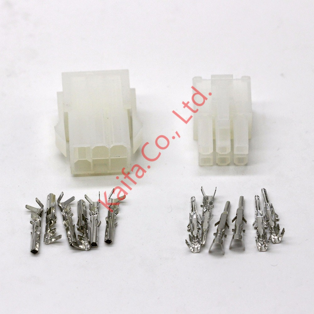 20 sets kit 6p Automobile wire connector plug 5557 5559 plastic terminal plug spring terminals free shipping(China (Mainland))