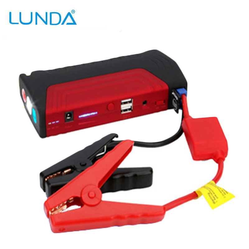 LUNDA 12V Car Jump Starter Auto Battery Booster Power Bank for Cars Trucks up to 3.5L Gas and 2.5L Diesel Engine(China (Mainland))
