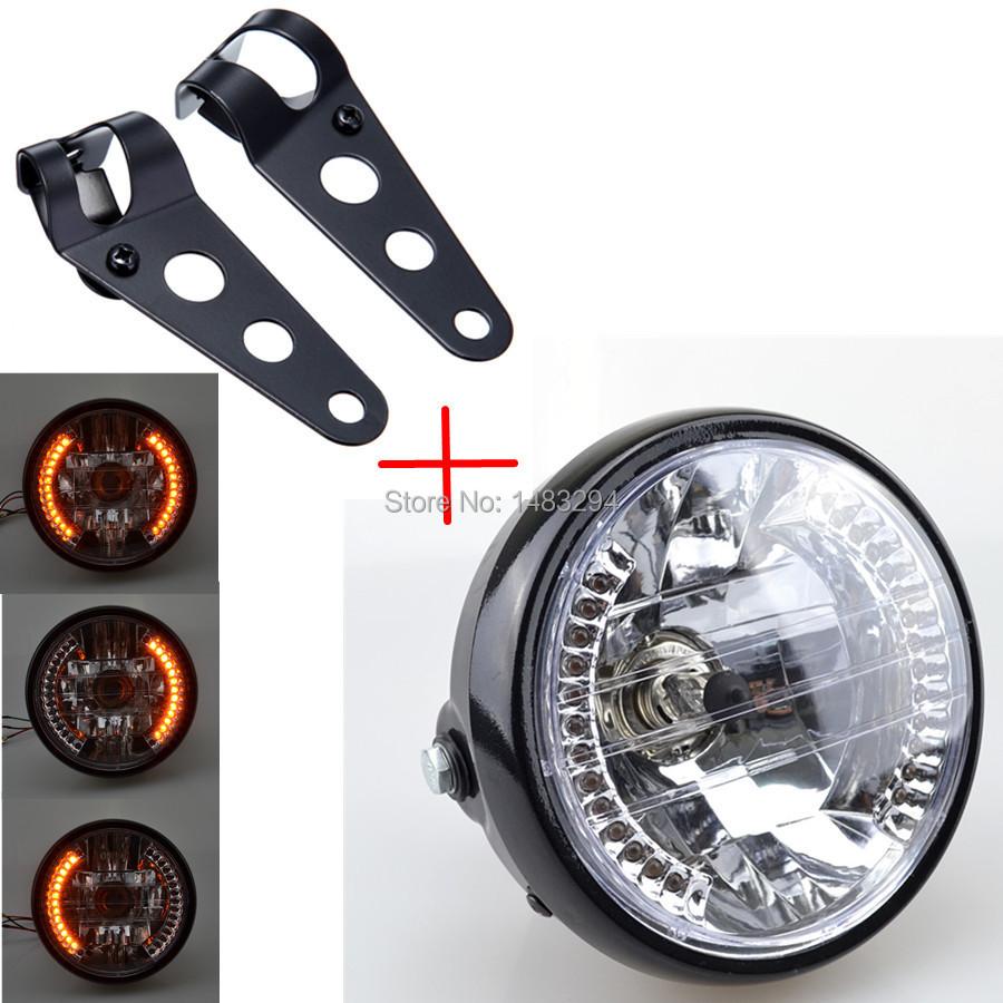 Motorcycle Headlight Assembly : Aliexpress buy motorcycle headlight assembly led