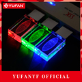 YUFANYF 2017 pendrive 3 colors Red blue green LED Ford car LOGO USB falsh drive 4GB