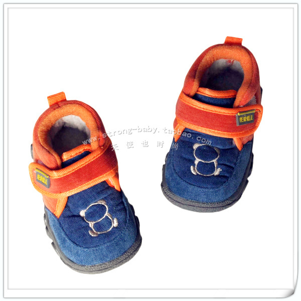 Winter thermal large cotton toddler shoes baby shoes soft outsole bb shoes