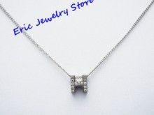 Sweety Pendant Necklace Fashion Brand Jewelry Stainless Steel+Rhinestone Letter H Logo Printed Top Quality Package Box #HN2(China (Mainland))