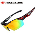 ROBESBON Unisex Polarized Cycling Glasses Outdoor Sport Eyewear 5 Lens Bicycle Sunglass Goggles Gafas de ciclismo