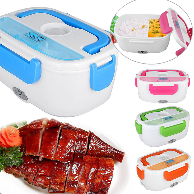 Portable Heated Lunch Box Electric Heating Truck Oven Cooker Office Home Food Warmer Lunch Bag LT88(China (Mainland))