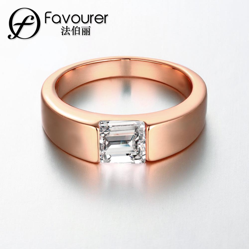 gold plated women men jewelry wholesale classic wedding band rings