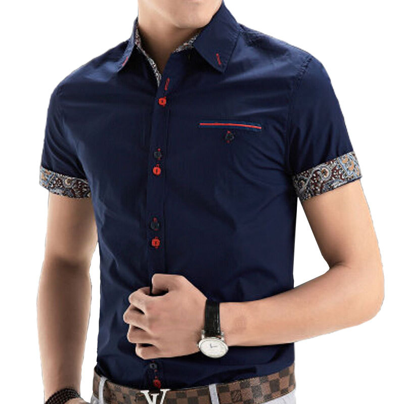 Buy 2015 new brand mens dress shirts for Mens short sleve dress shirts