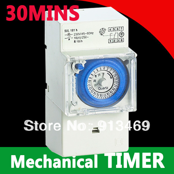 30 minutes 24 hours Mechanical Timer switch 230vac analogue time switch FREE SHIPPING<br><br>Aliexpress